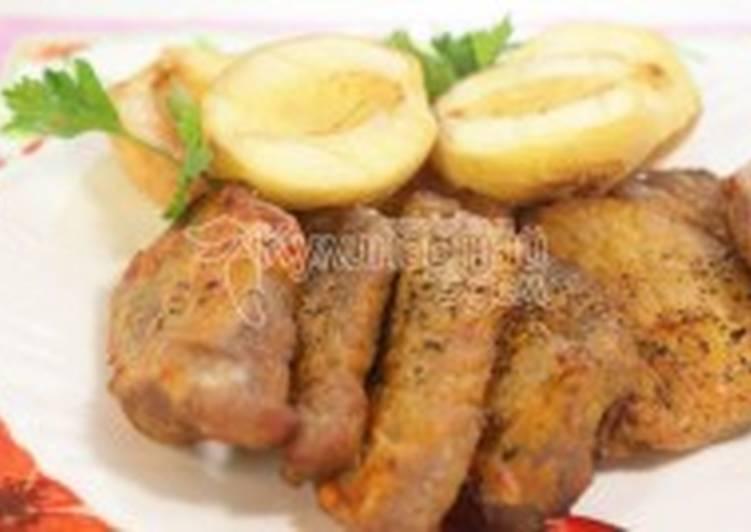 Мясо с персиками