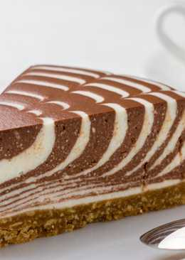 """Творожный торт """"Зебра"""", без выпечки"""