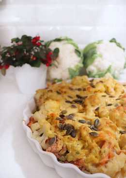 Впечатляющая паста с копченым лососем и цветной капустой