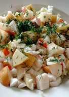 Салат с грушей и крабовым мясом #кулинарныймарафон