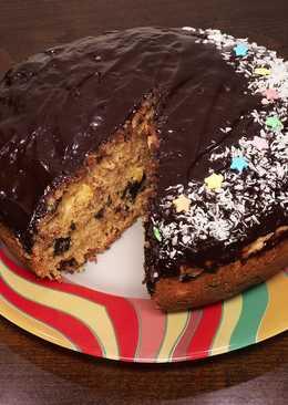 Пирог с апельсином и кусочками шоколада в мультиварке