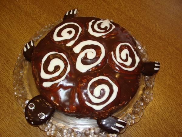 Торт ЧЕРЕПАХА очень простой рецепт со сметанным кремом
