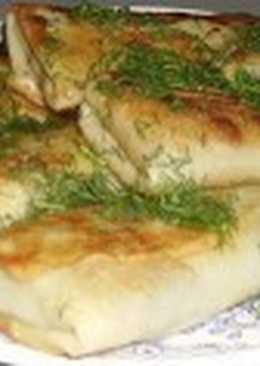 Блины постные с начинкой из гречневой каши