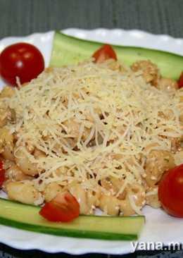 Макароны с соусом и сыром по-итальянски в скороварке