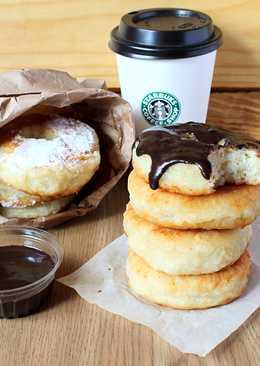 Рисовые пончики под шоколадной глазурью