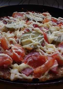 Пицца-драник на сковороде