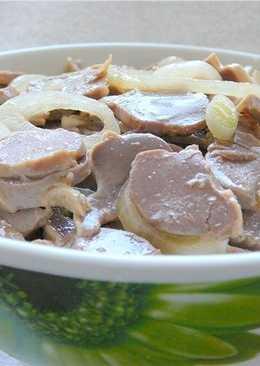 Салат из куриных желудков