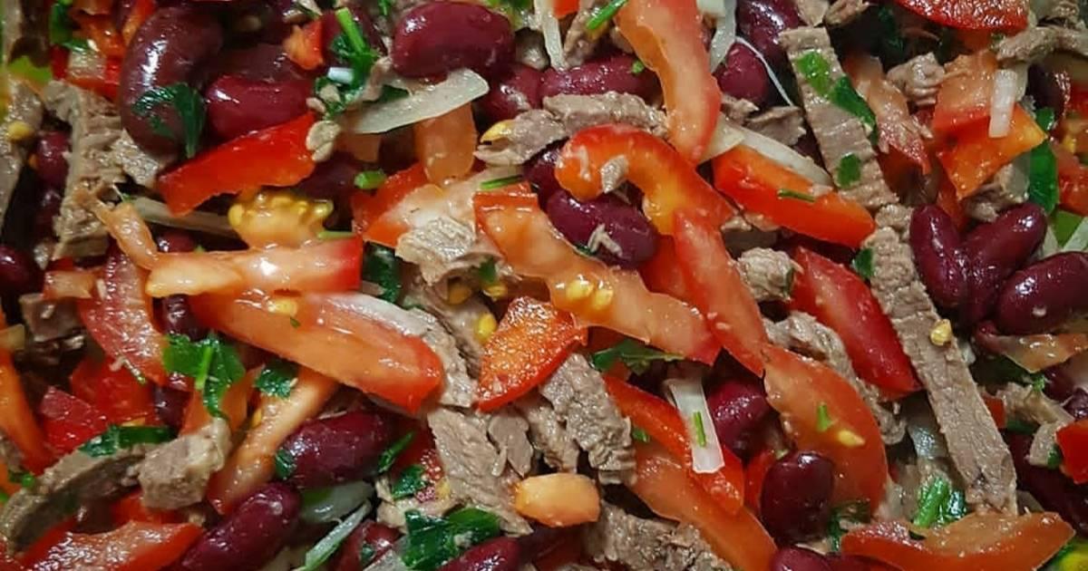 Салат с говядиной - идеальное блюдо: рецепт с фото и видео