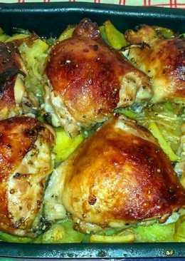 Куриный шашлык в ореховом маринаде с запечённой картошечкой