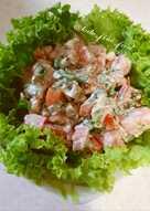 Летний салат с печеными баклажанами #кулинарныймарафон