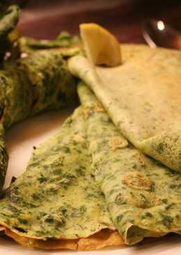 Блинчики из шпината и зелени или «зелёные блины»