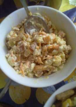 Салат с яйцом, морковкой и сухариками #чемпионатмира #россия