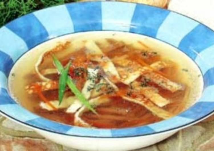 Суп с говядиной по-чешски «Панадель»