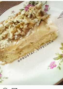 Итальянский пирог с сметанной заливкой