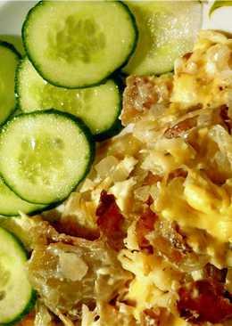 Картофель в сливках с сыром