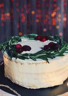Лимонно-розмариновый торт (250 ккал) / Новогодний пп-рецепт
