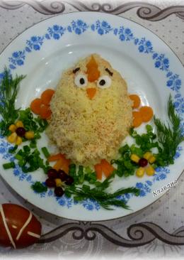 "Пасхальный салат ""Цыплёнок"""