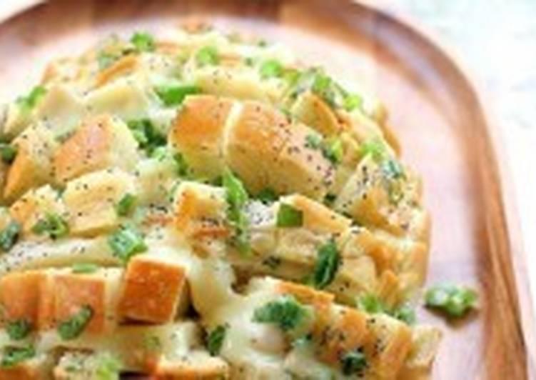 Быстрая хлебно-сырная закуска