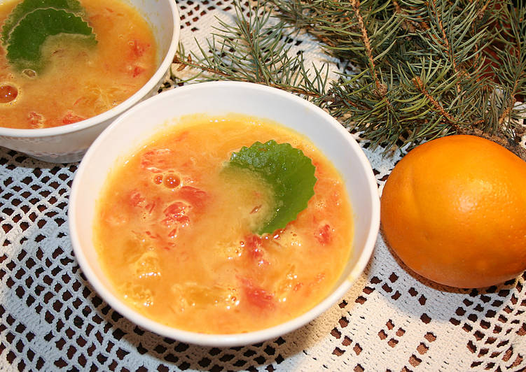 Апельсиново-грейпфрутовый фреш-суп с мятой