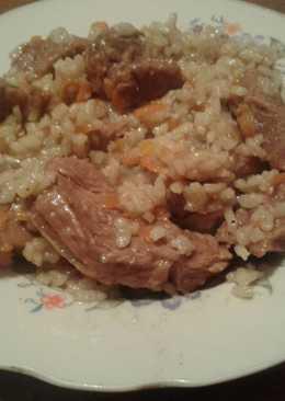 Рисовая каша с говядиной