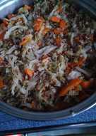 Гречка с капустой и сельдереем (вегетарианская кухня)