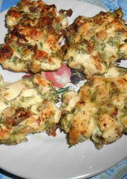 Рубленные куриные котлеты с грибами