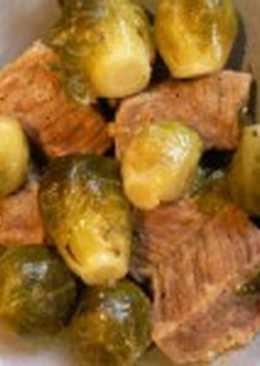 Говядина диетическая с брюссельской капустой