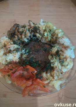Говядина с тушеными овощами