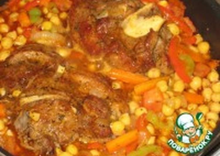 Индейка, сваренная с овощами