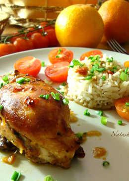 Куриная грудка, маринованная в соево-апельсиновом соусе