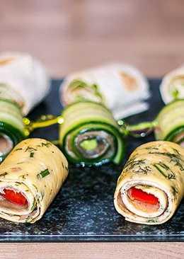 Быстрые роллы с лососем на праздничный стол