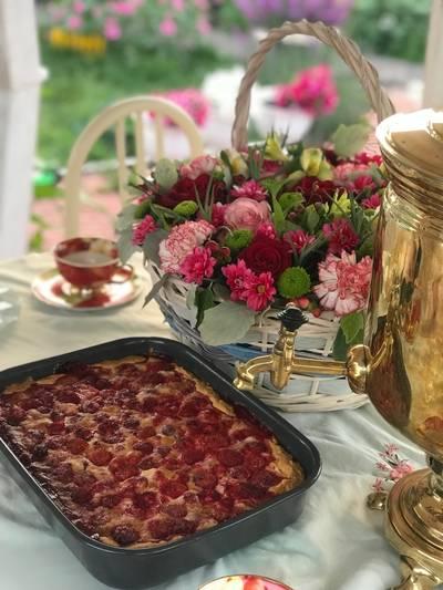#летниедесерты «Клубничный заливной пирог»