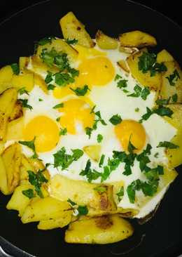 Завтрак «Гнездо с яйцами»