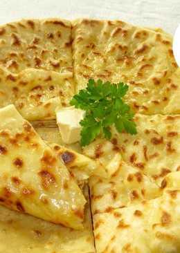 Лепешки на кефире с картофелем и брынзой- вкусные Хычины