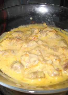 Желудки куриные в сметанном соусе