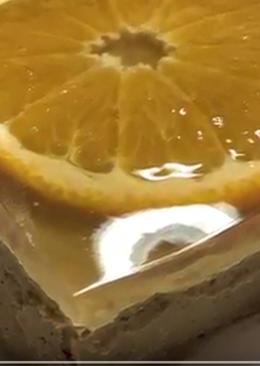 Печёночный паштет под апельсиновым желе