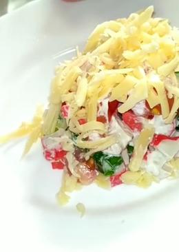 Лёгкий в приготовлении и очень вкусный салат