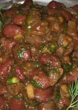 Лобио из красной фасоли грузинское блюдо