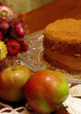 Мамина «Шарлотка» с яблоками (без масла)