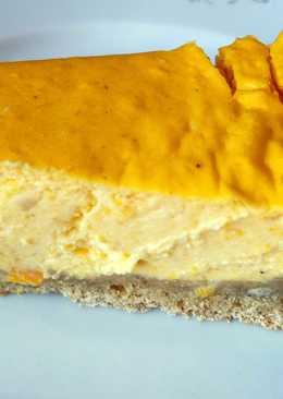 Творожный пирог с тыквой и апельсином к завтраку 😋