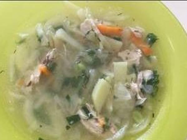 Щи из свежей капусты с курицей #кулинарныймарафон