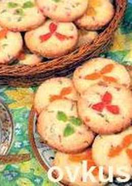 Постное печенье с цукатами