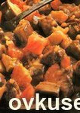 Бадымджан мусамбе (баклажаны с бараниной)