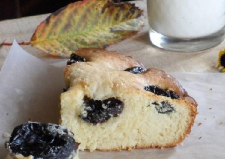 Пирог с черносливом «Осеннее утро» по-бретонски