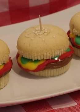 Кексы гамбургеры