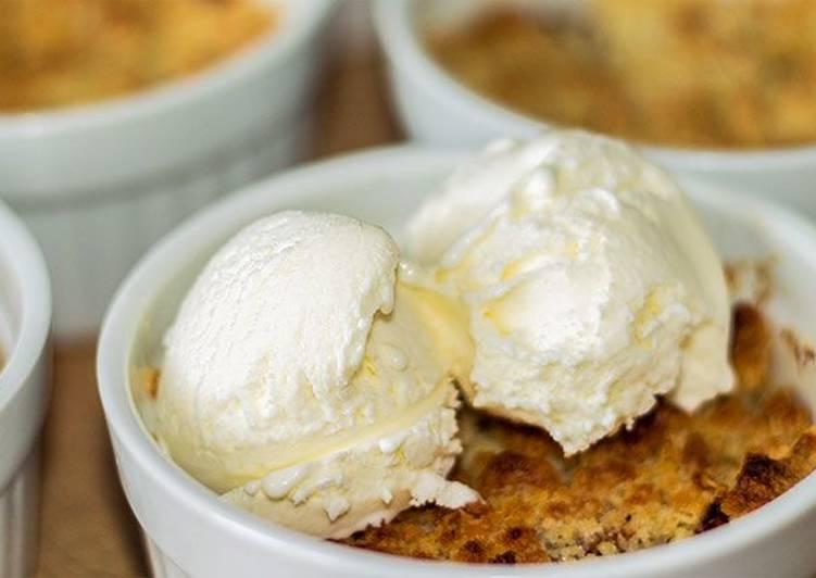 Яблочный крамбл - простой м вкусный десерт