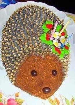 Торт Ёжик,прекрасный торт для детей на День Рожденье