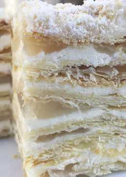 Торт Наполеон с яблочной прослойкой