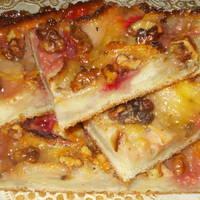Пирог с кабачком, яблоками и орехами #спас
