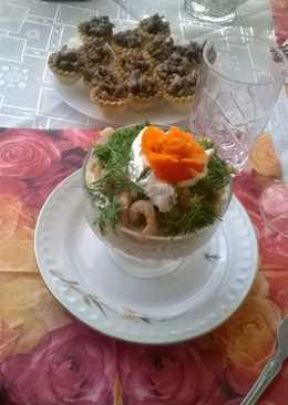 Салат-коктейль с креветками к новогоднему столу
